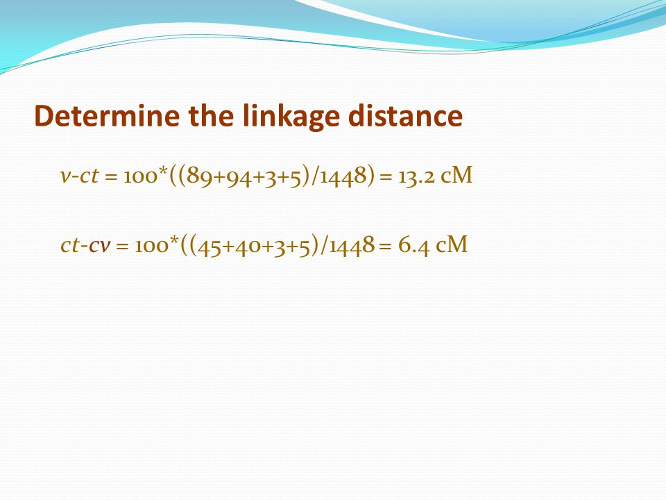 Determine the linkage distance
