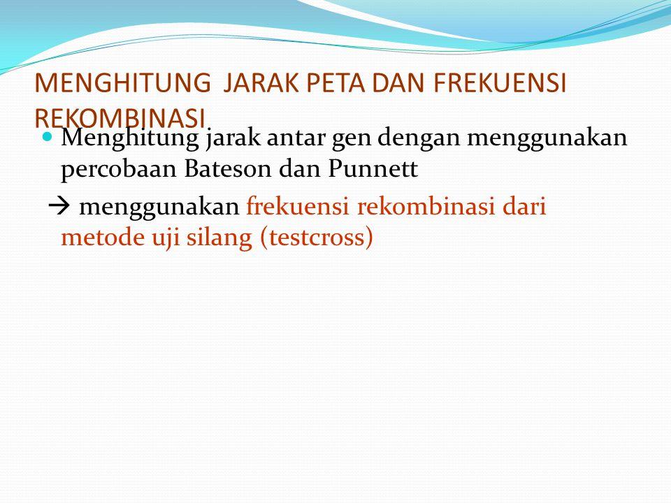 MENGHITUNG JARAK PETA DAN FREKUENSI REKOMBINASI