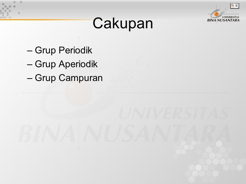 Cakupan Grup Periodik Grup Aperiodik Grup Campuran