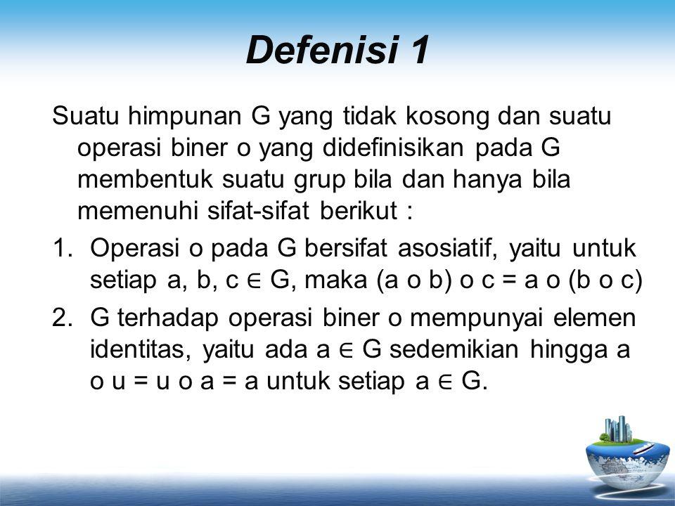 Defenisi 1