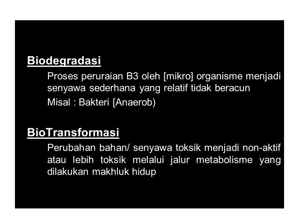 Biodegradasi BioTransformasi