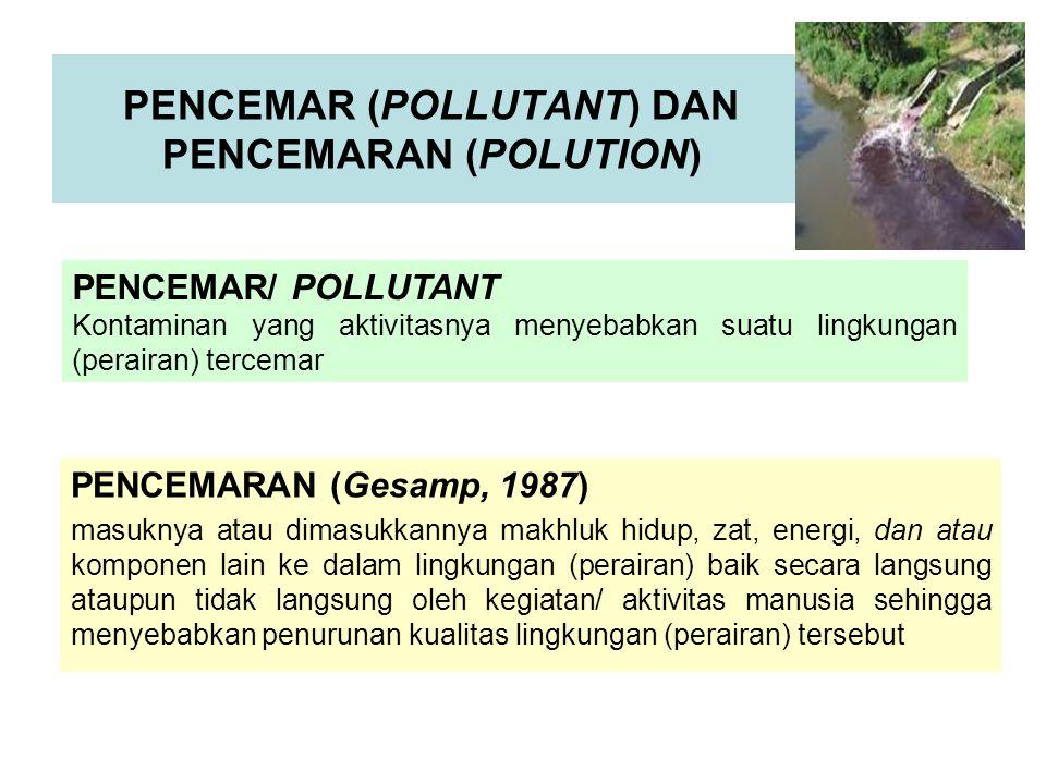 PENCEMAR (POLLUTANT) DAN PENCEMARAN (POLUTION)