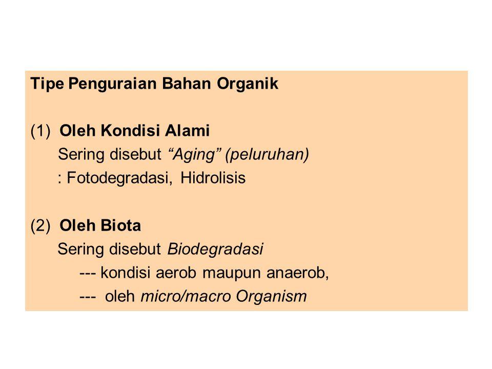 Tipe Penguraian Bahan Organik