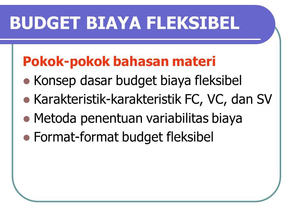 BUDGET BIAYA FLEKSIBEL