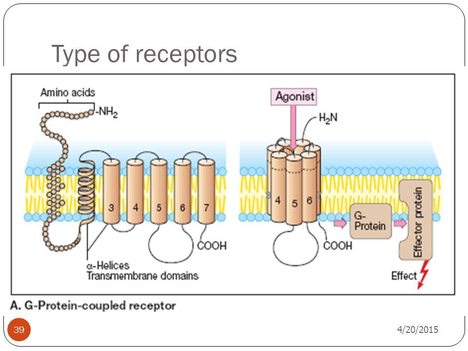 Type of receptors 4/13/2017