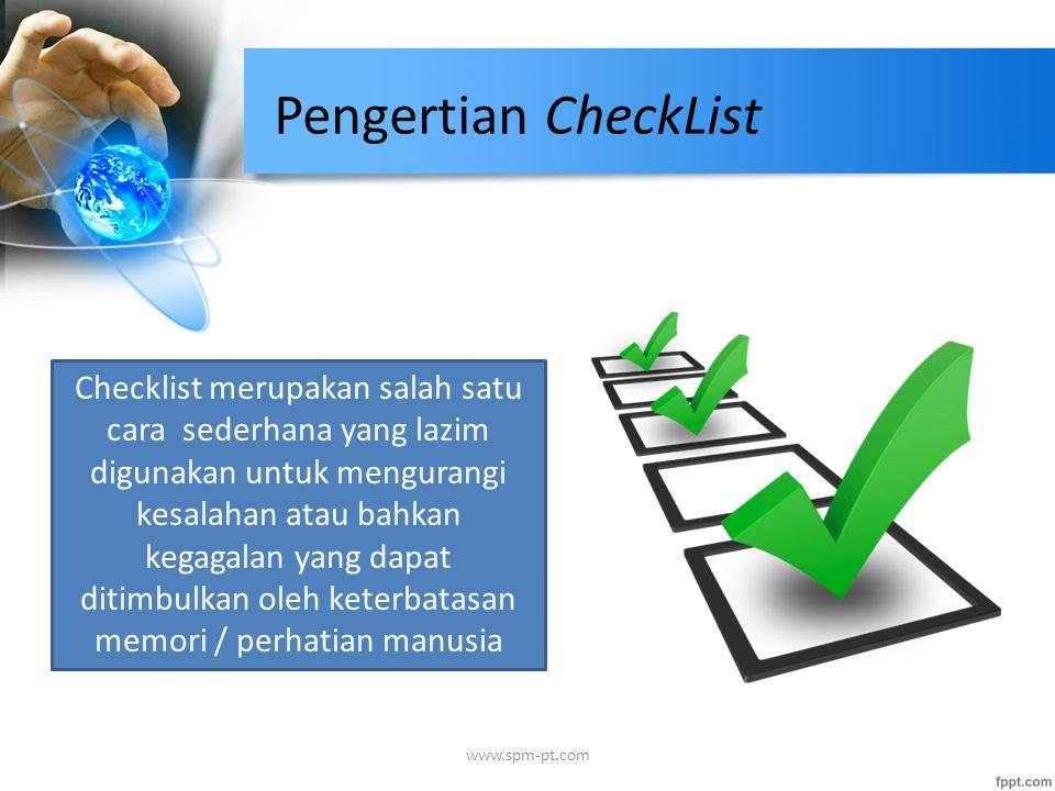 Pengertian CheckList