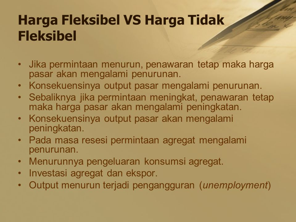 Harga Fleksibel VS Harga Tidak Fleksibel