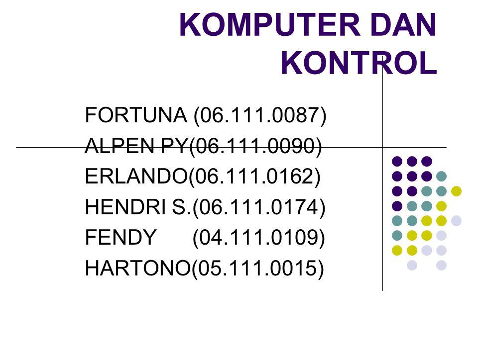 KOMPUTER DAN KONTROL FORTUNA (06.111.0087) ALPEN PY(06.111.0090)