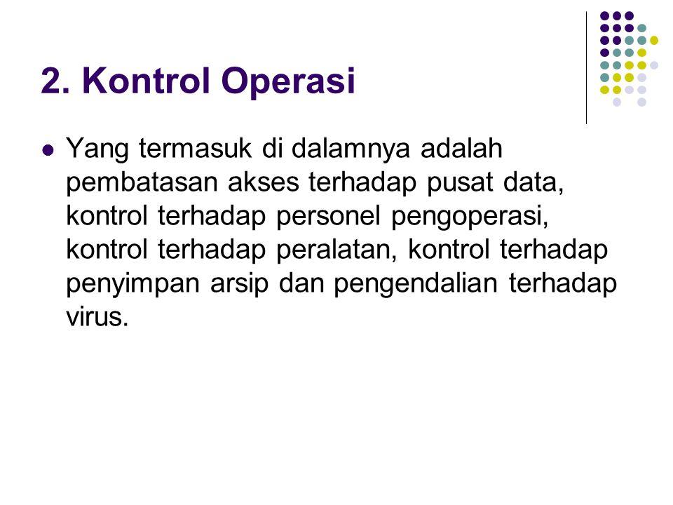 2. Kontrol Operasi