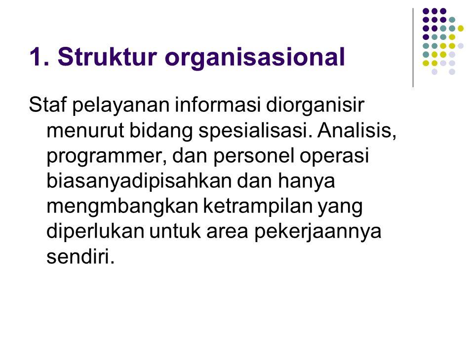 1. Struktur organisasional