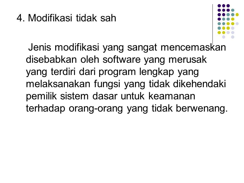 4. Modifikasi tidak sah