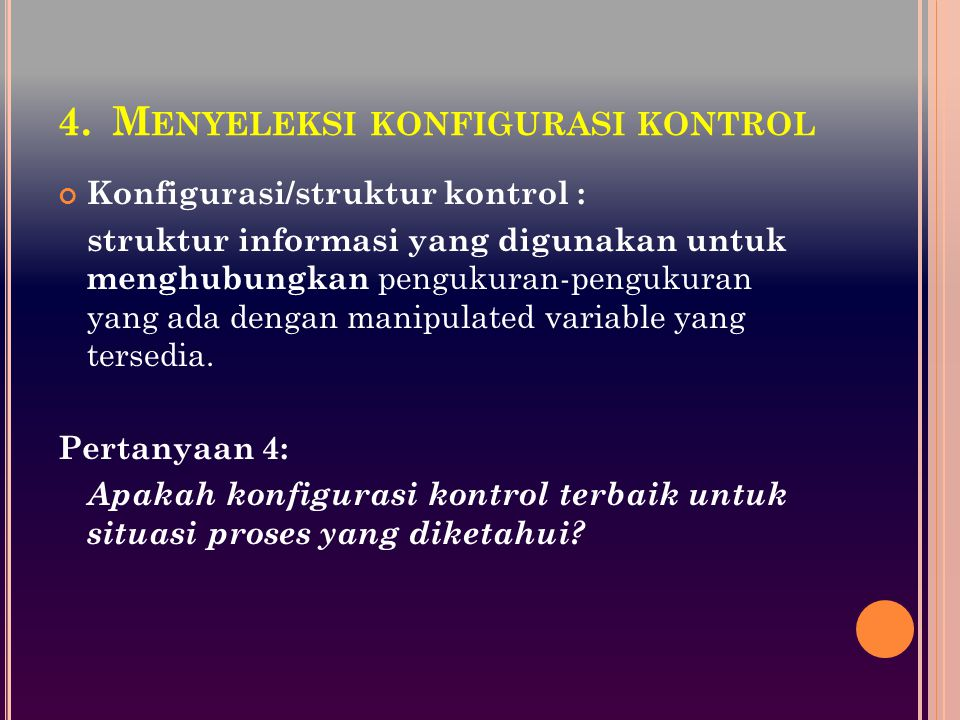 Menyeleksi konfigurasi kontrol
