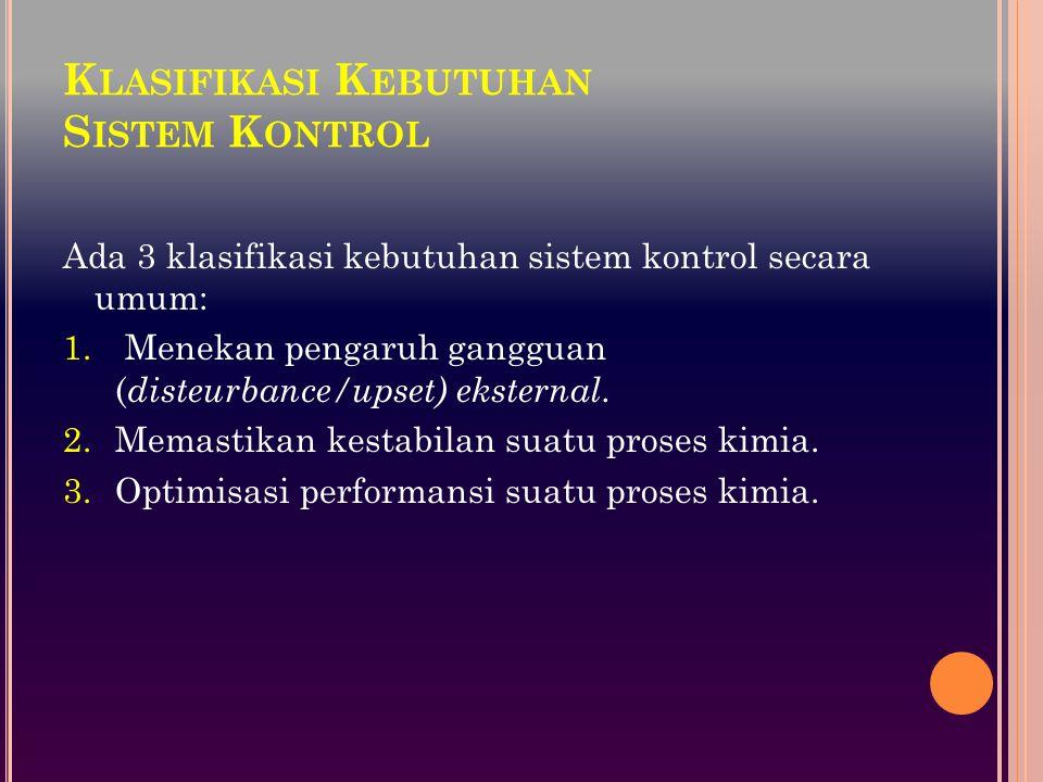 Klasifikasi Kebutuhan Sistem Kontrol