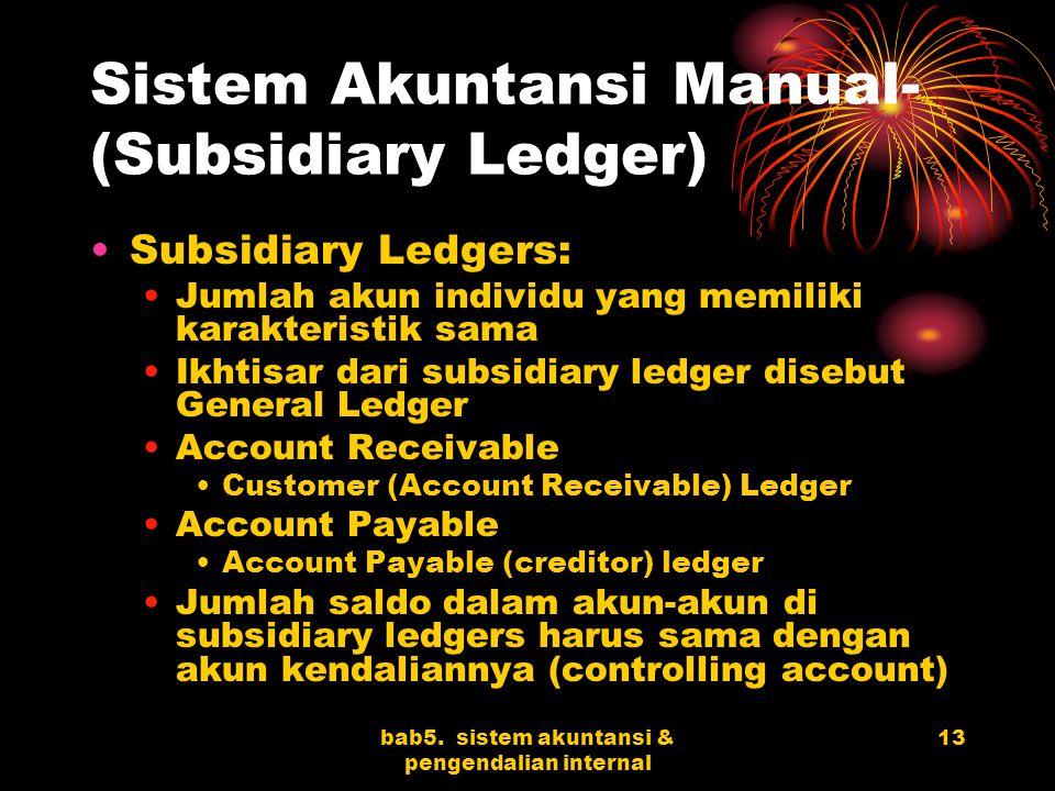 Sistem Akuntansi Manual- (Subsidiary Ledger)