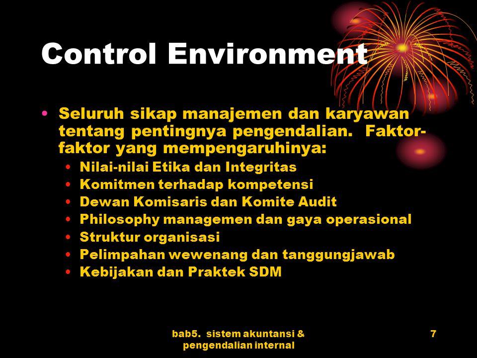 bab5. sistem akuntansi & pengendalian internal