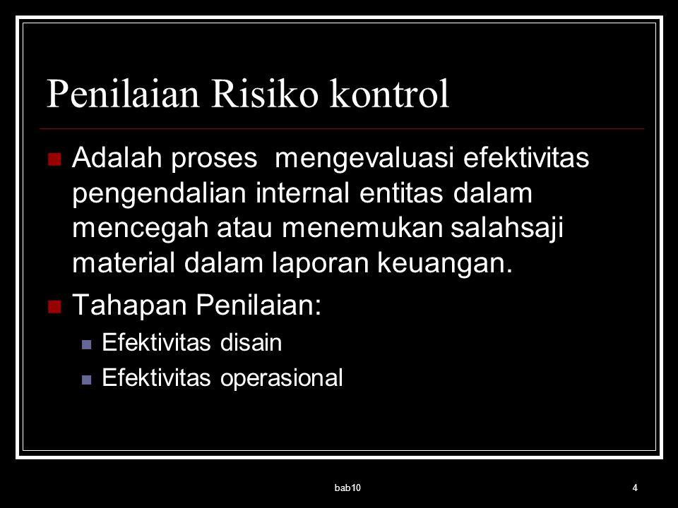 Penilaian Risiko kontrol