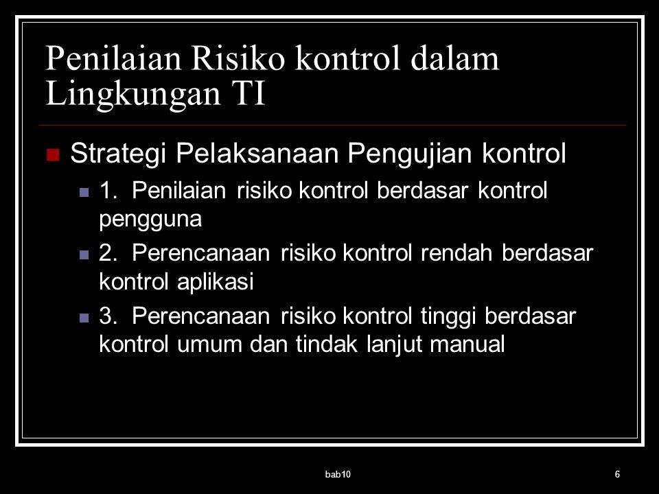 Penilaian Risiko kontrol dalam Lingkungan TI