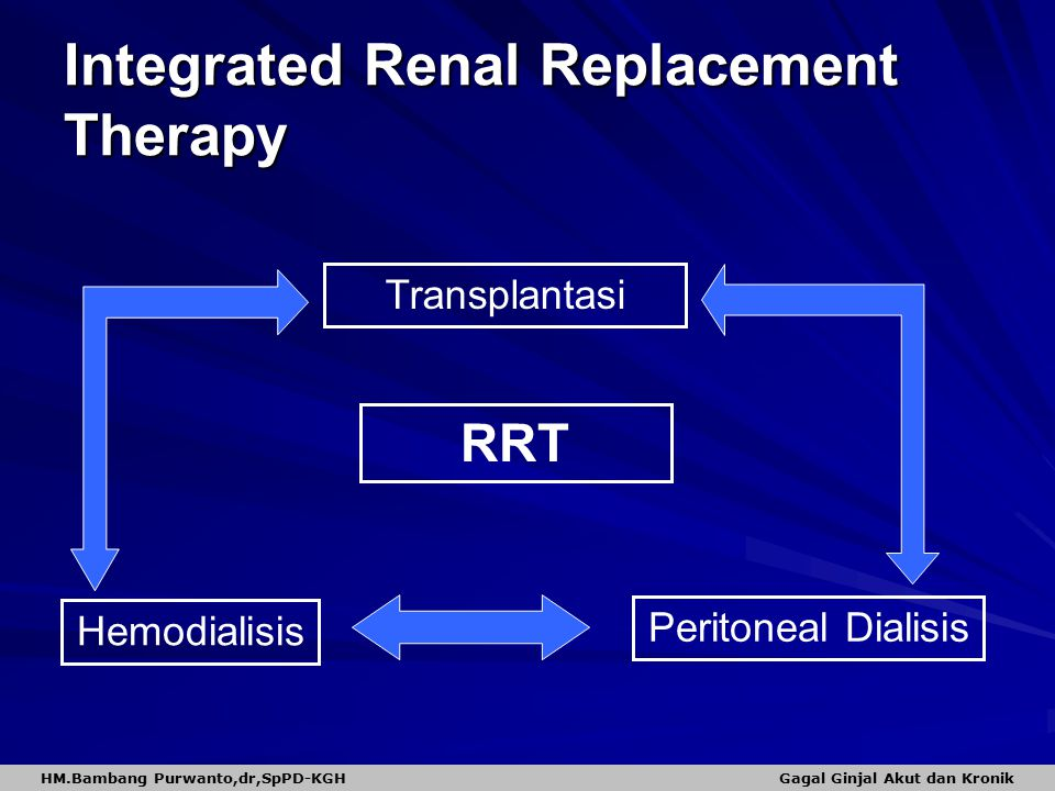 Integrated Renal Replacement Therapy