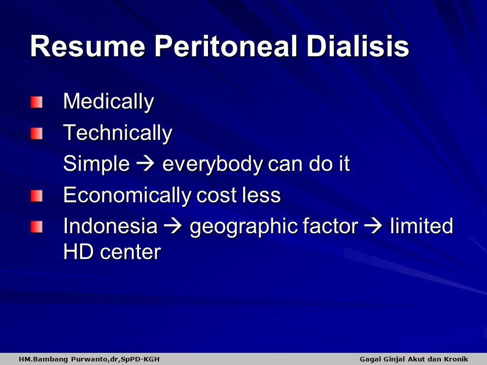 Resume Peritoneal Dialisis