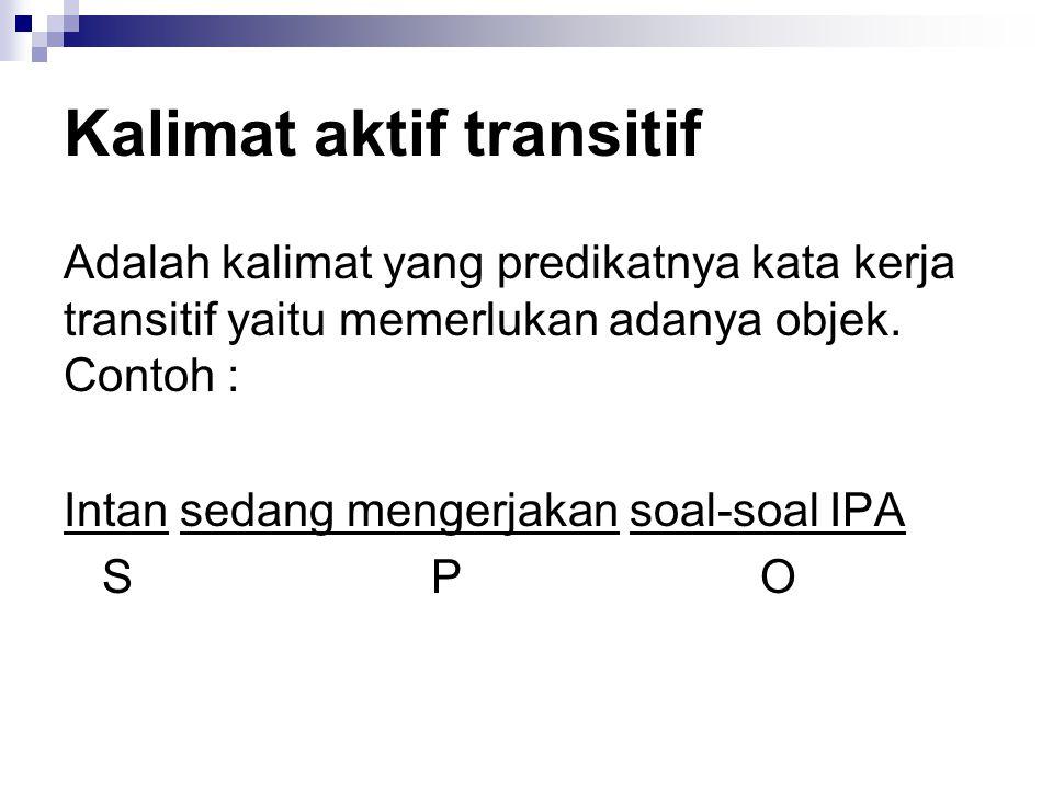 Kalimat aktif transitif