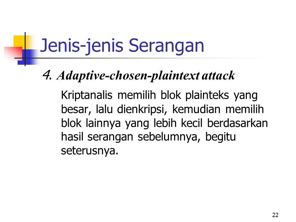 Jenis-jenis Serangan 4. Adaptive-chosen-plaintext attack