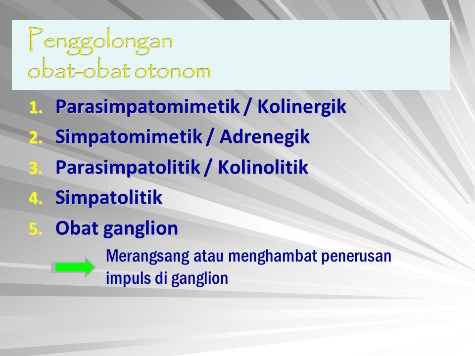 Parasimpatomimetik / Kolinergik Simpatomimetik / Adrenegik