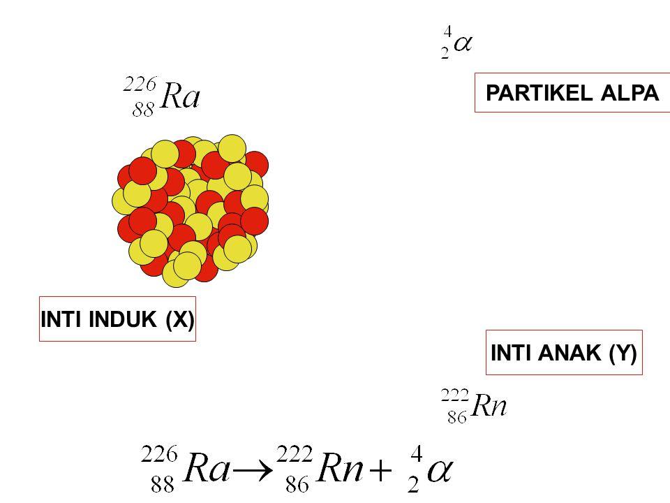 PARTIKEL ALPA INTI INDUK (X) INTI ANAK (Y)