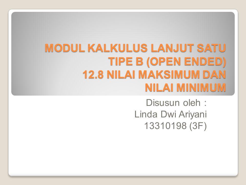 Disusun oleh : Linda Dwi Ariyani 13310198 (3F)