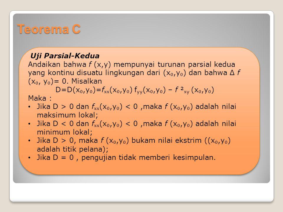 Teorema C Uji Parsial-Kedua