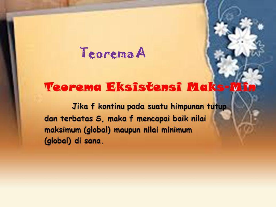 Teorema A Teorema Eksistensi Maks-Min