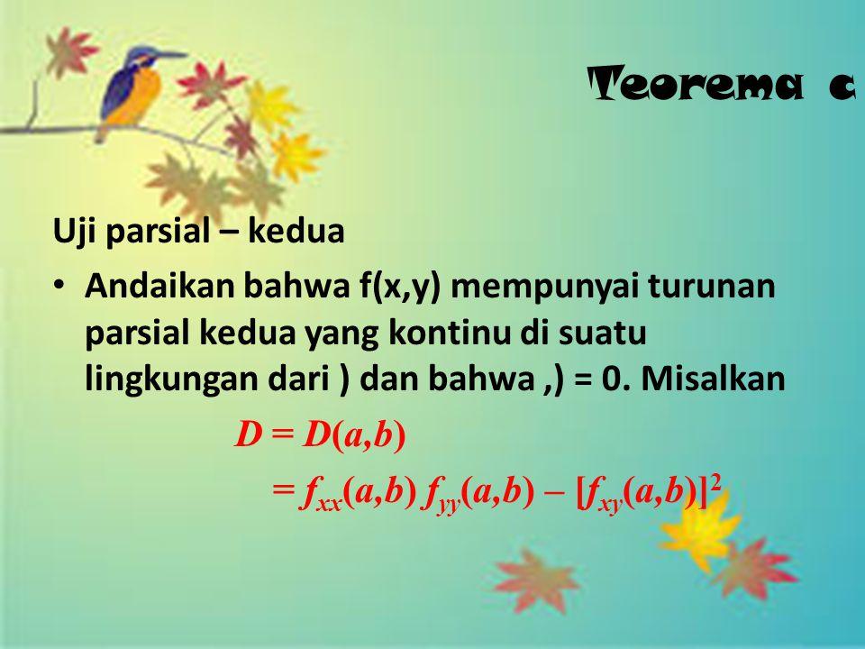 Teorema c Uji parsial – kedua