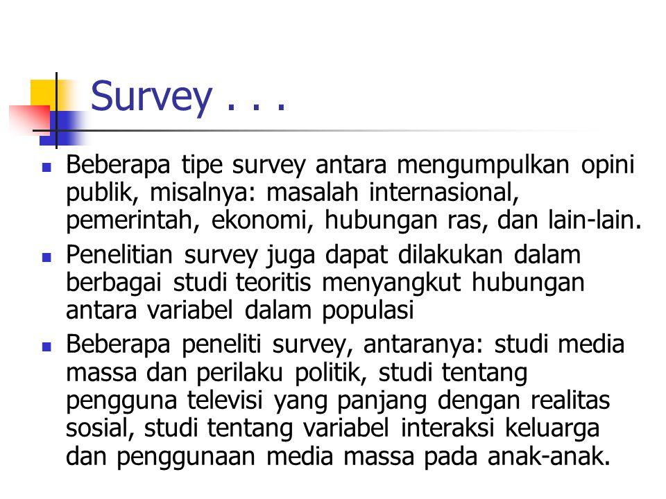 Survey . . .