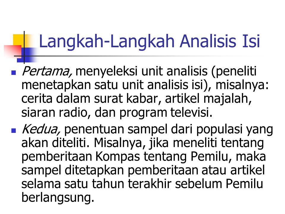 Langkah-Langkah Analisis Isi