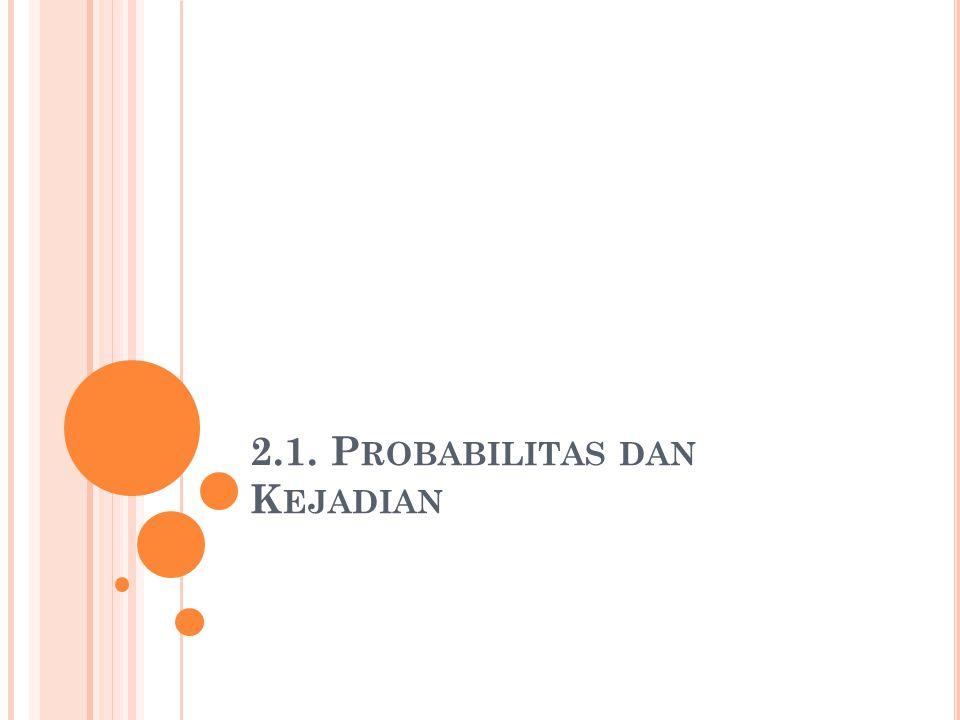 2.1. Probabilitas dan Kejadian