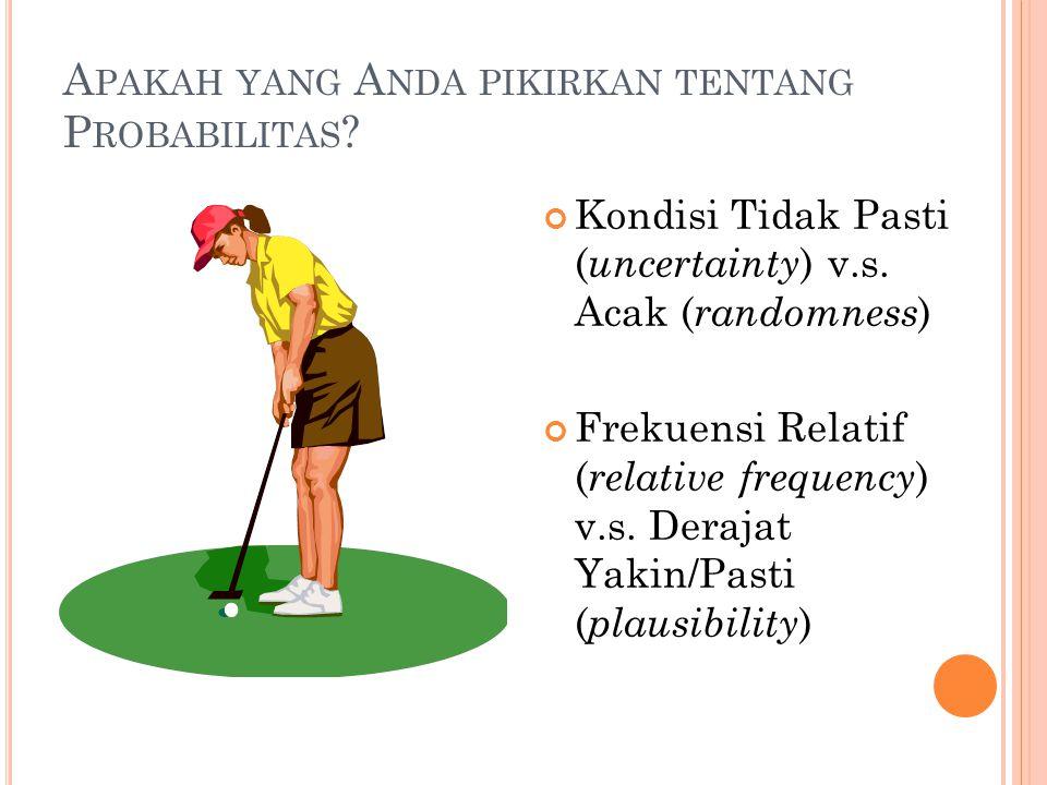 Apakah yang Anda pikirkan tentang Probabilitas