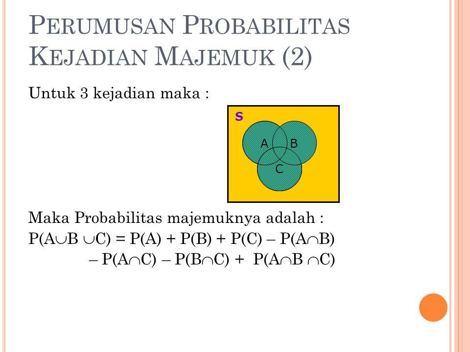 Perumusan Probabilitas Kejadian Majemuk (2)