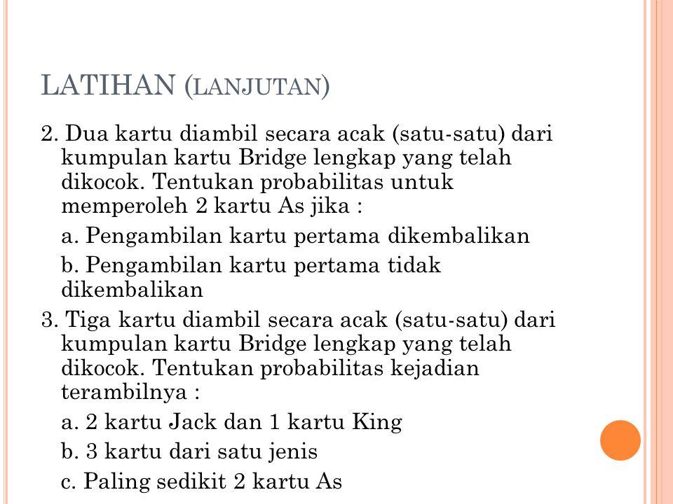 LATIHAN (lanjutan)