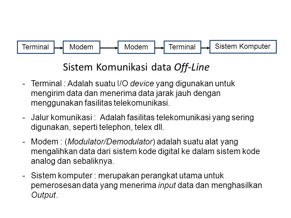Sistem Komunikasi data Off-Line