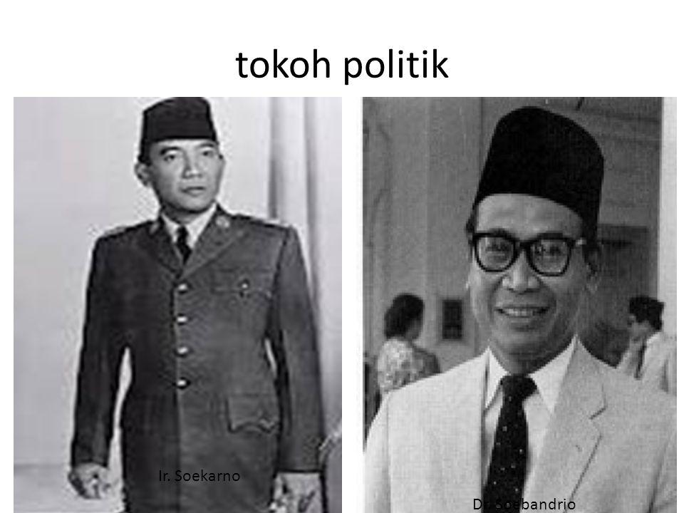 tokoh politik Ir. Soekarno Dr. Soebandrio