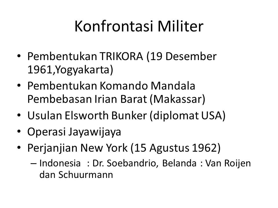 Konfrontasi Militer Pembentukan TRIKORA (19 Desember 1961,Yogyakarta)