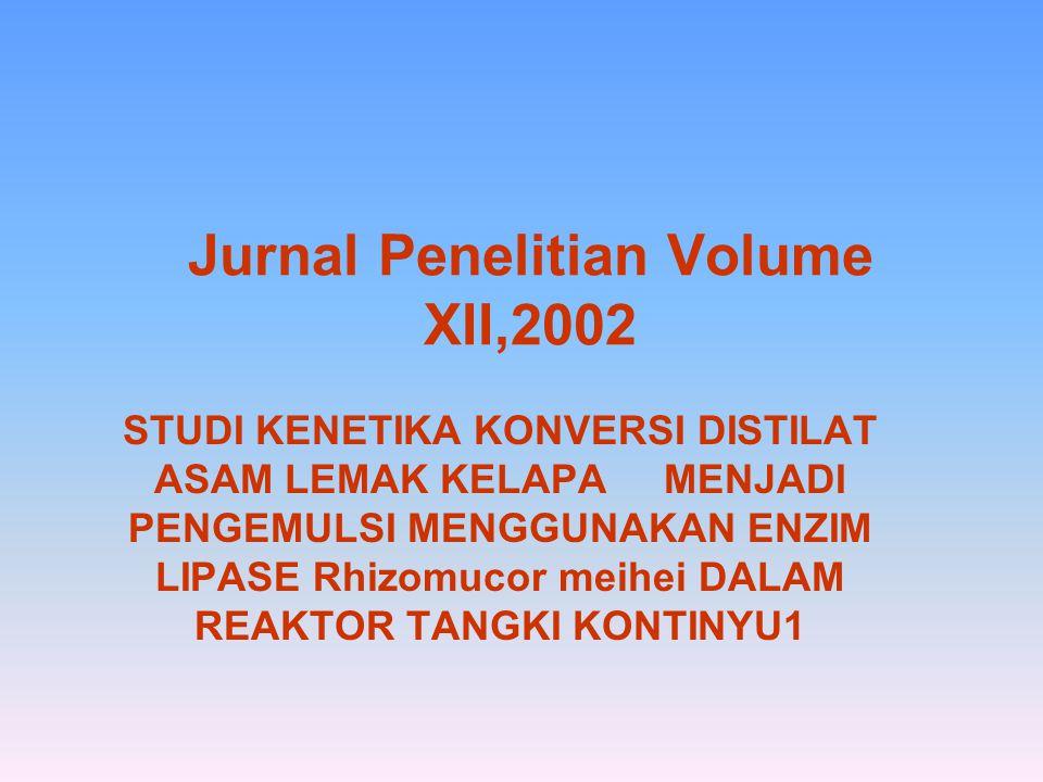 Jurnal Penelitian Volume XII,2002