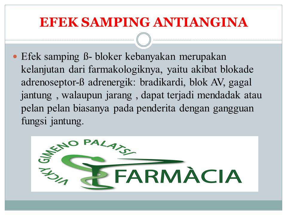 EFEK SAMPING ANTIANGINA