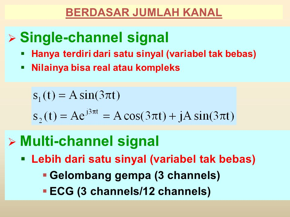 Single-channel signal