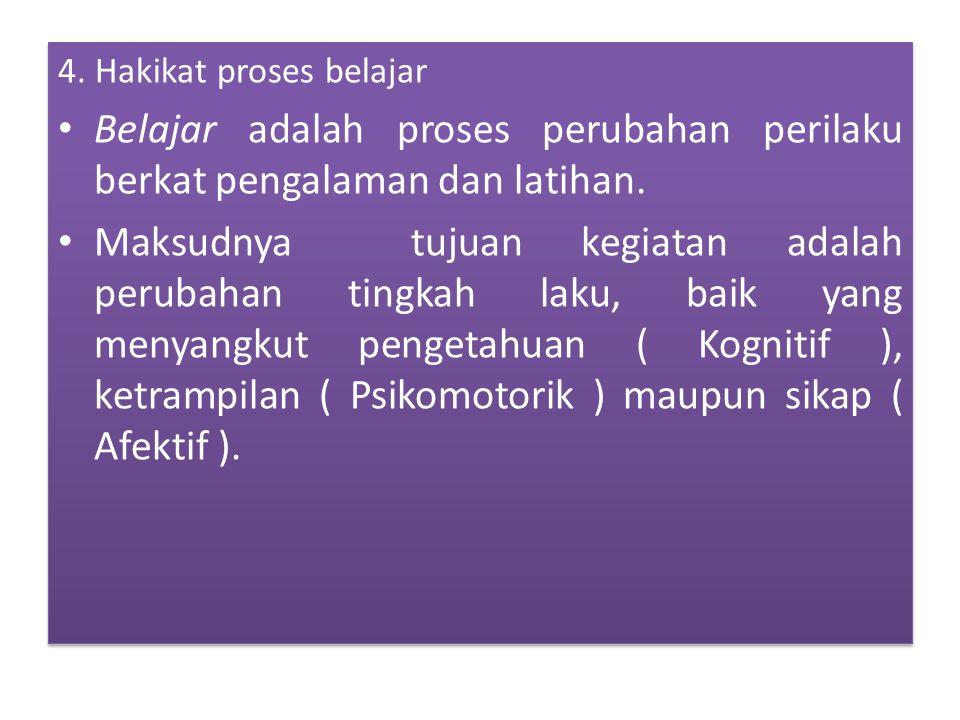 4. Hakikat proses belajar