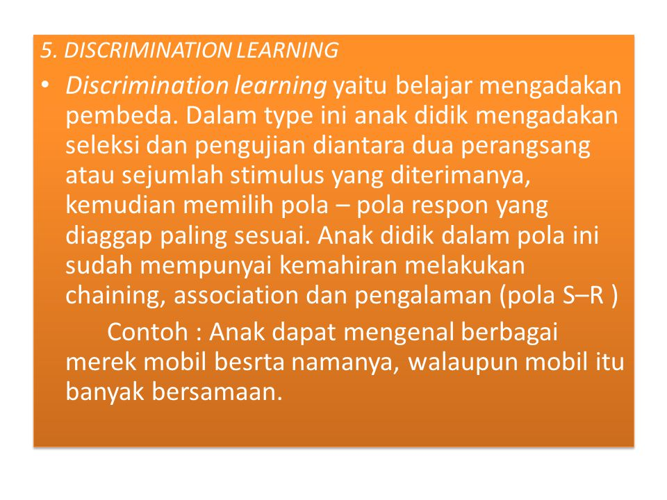 5. DISCRIMINATION LEARNING
