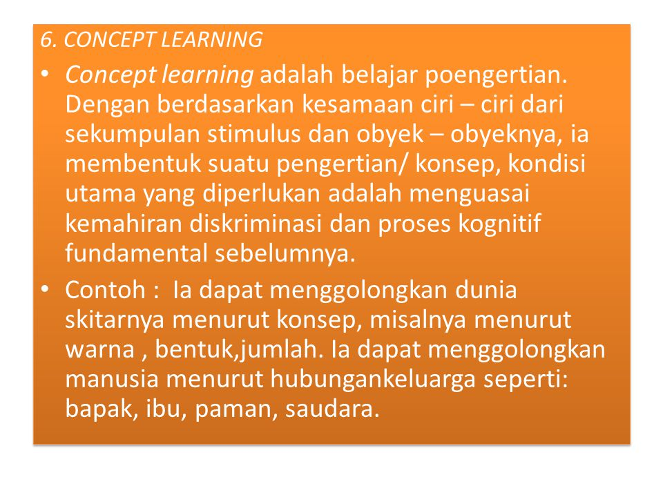 6. CONCEPT LEARNING