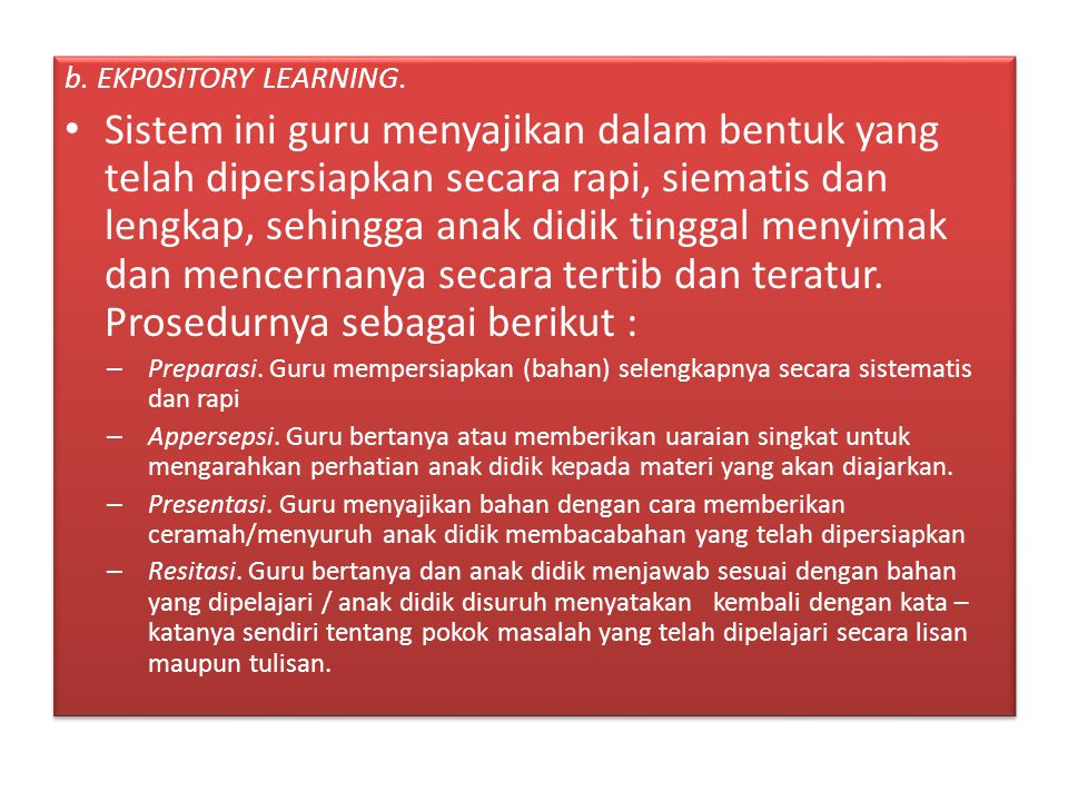 b. EKP0SITORY LEARNING.
