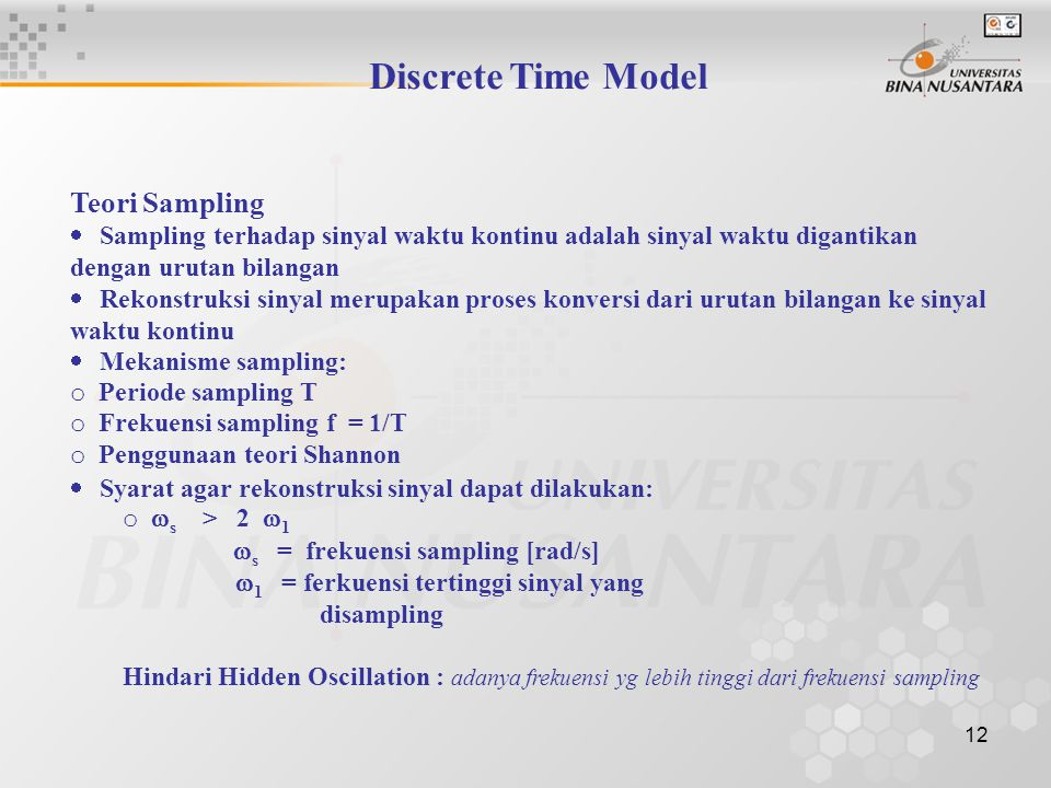 Discrete Time Model Teori Sampling