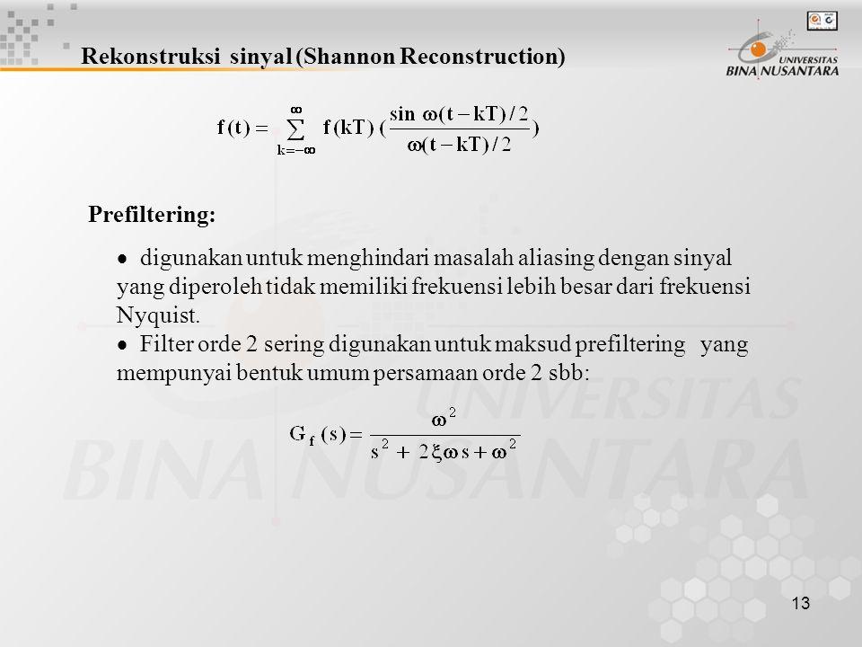 Rekonstruksi sinyal (Shannon Reconstruction)