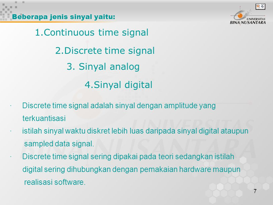 1.Continuous time signal